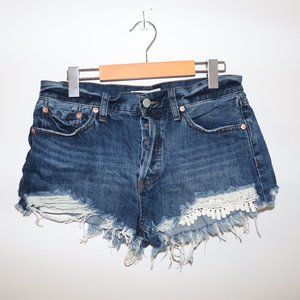 We The Free Raw Cut Boho Jean Shorts